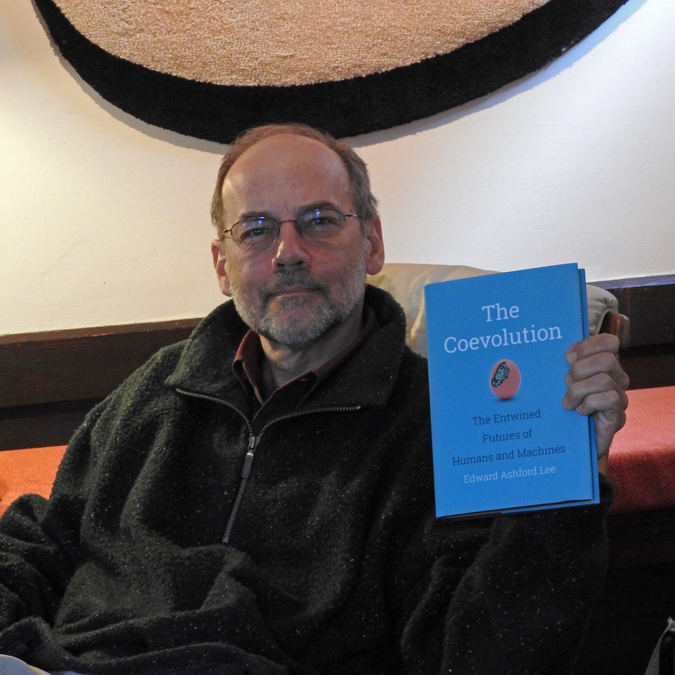 Edward Ashford Lee with his new book: The Coevolution (Photo by E. A. Lee)
