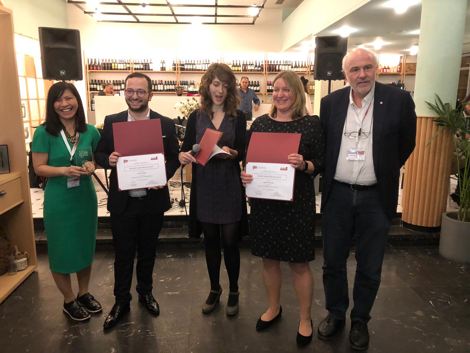 Mete Sertkan, Julia Neidhardt and Prof. Werthner at ENTER 2019. Photo by Prof. Cihan Çobanoğlu